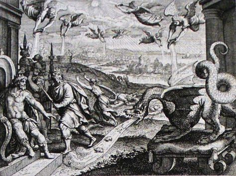 Apocalypse_25._The_angels_pour_out_their_vials_of_wrath._Revelation_16._Merian._Phillip_Medhurst_Collection